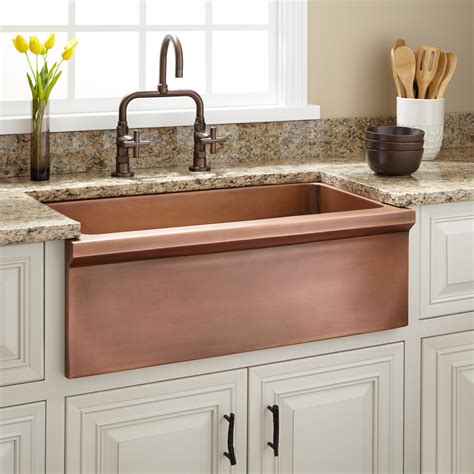 The Sink by 30 Quot Bria Copper Farmhouse Sink Kitchen
