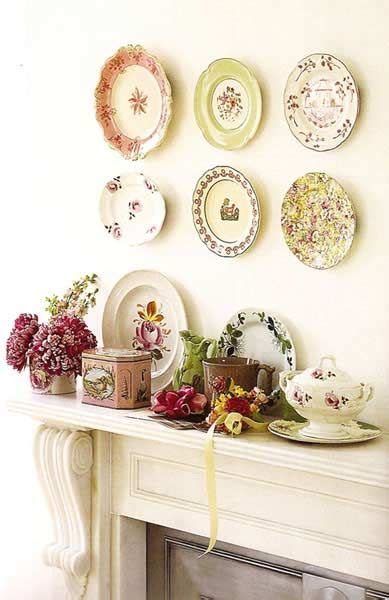 inexpensive home decor ideas diy china decor old china gets re purposed display mix and match china on your wall your