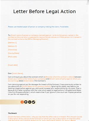 Business Letter Before Template Letter Before Template From Lawbite