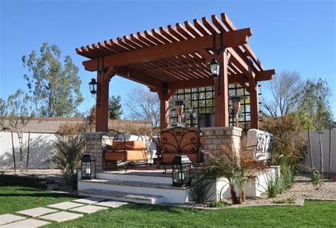 outdoor seating area with cover pergola and patio cover az photo gallery