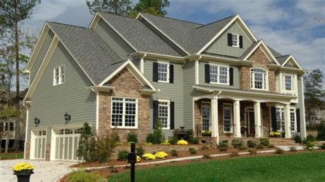 Exterior Painted Homes Green Exterior House Vinyl Siding