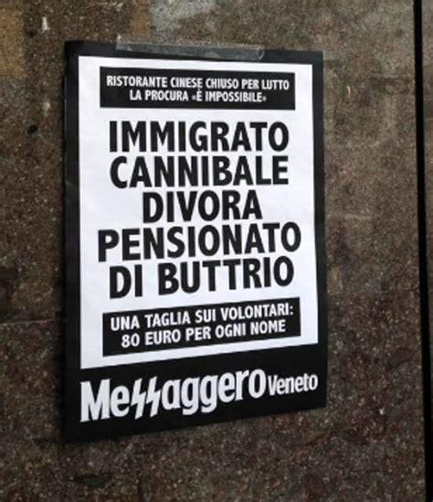 veneto udine finte locandine messaggero veneto polemica profughi
