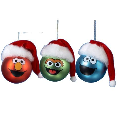 sesame street christmas tree ornaments choose your character