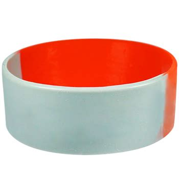 1 inch silicone bracelets custom personalized silicone bracelets segmented blank 1 inch
