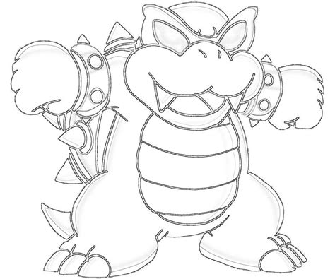 bowser koopa colorings coloring pages