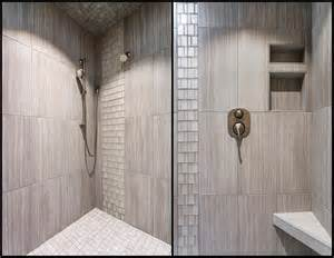 bathroom tile vertical stripe the recessed shoo and soap holder with the 12x24 tile