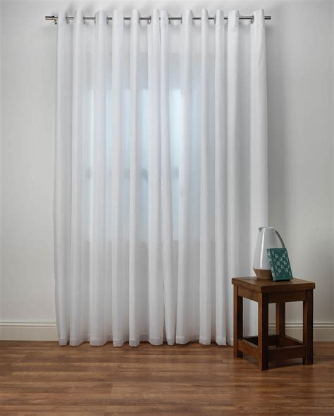Emma White Lined Voile Curtains from Net Curtains Direct