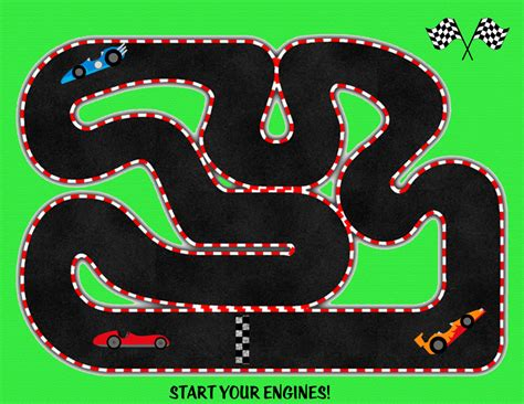 track racing printable time play mats free for