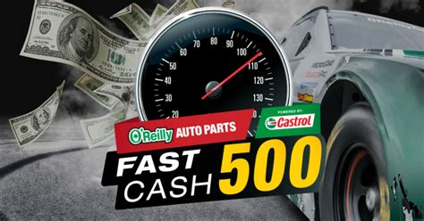 Fast Cash Sweepstakes - o reilly auto parts fast cash 500 sweepstakes familysavings