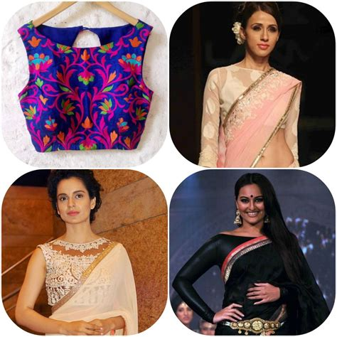 Collar Bow Sleeveless Top Whiteblue 13649 7 blouse necklines to wear with your sarees g3fashion