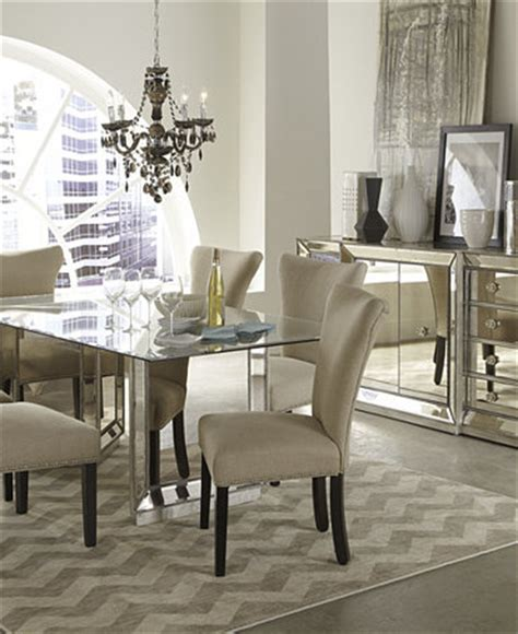 mirrored dining room set sophia mirrored dining room furniture collection