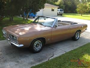 mopar plymouth 1967 barracuda convertible std 340