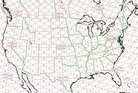 icom us grid square map vhf uhf contesting page