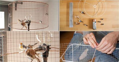 diy bird cage l id lights