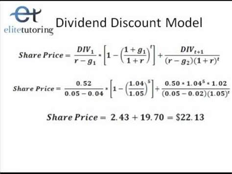 dividend discount model excel template dividend discount model and discounted free flow