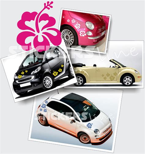 adesivi fiori per auto kit di adesivi fiori 1 smart fiat 500 opel adam adesivo