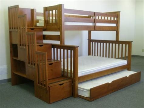 bunk bed with trundle and stairs bunk beds with stairs and slides