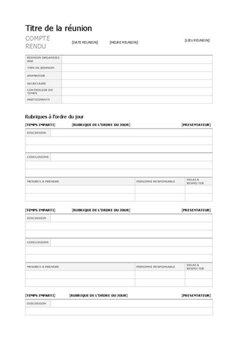templates for microsoft word compte rendu de r 233 union office templates