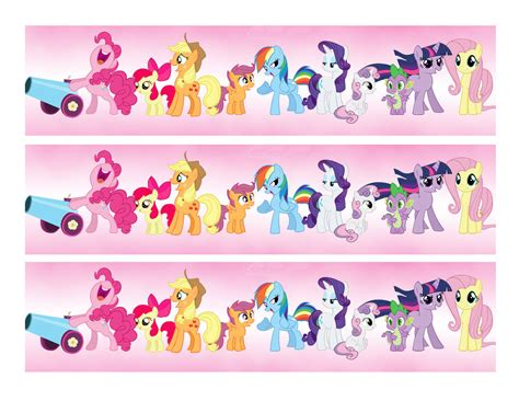 my pony edible cake strips cake toppers frosting sheet