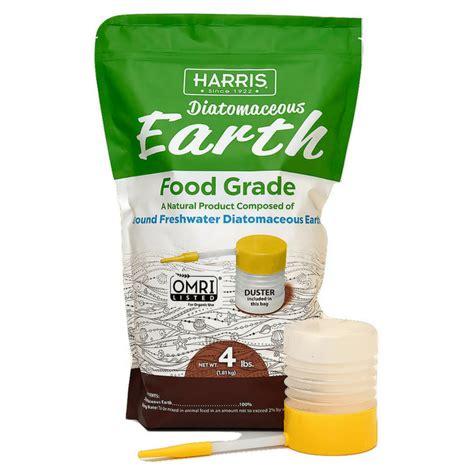 harris diatomaceous earth food grade 4lb w free powder