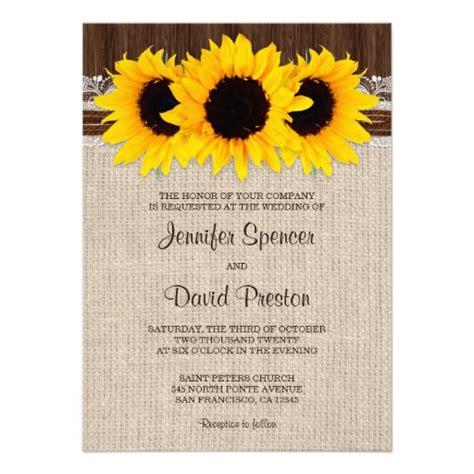 sunflower wedding invitations templates rustic country sunflower wedding invitations sunflower