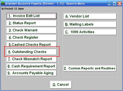 What Appears On A Background Check Nemrc Accounts Payable Outstanding Checks