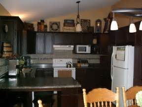 primitive decorating ideas for kitchen with granite