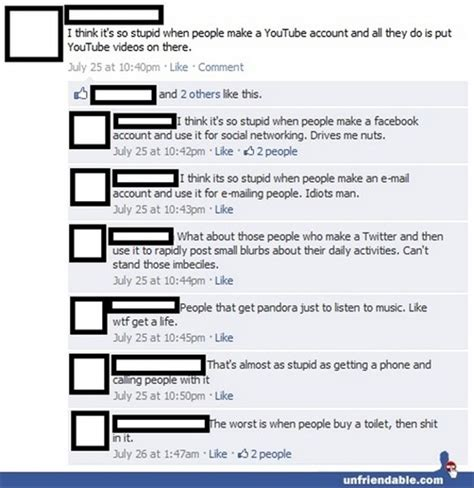 Funny facebook post hate it when people open a youtube account and