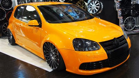 orange volkswagen volkswagen golf orange tuning at essen motorshow