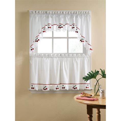 swag curtains for kitchen windows fresh cherries kitchen swag tier or valance i want