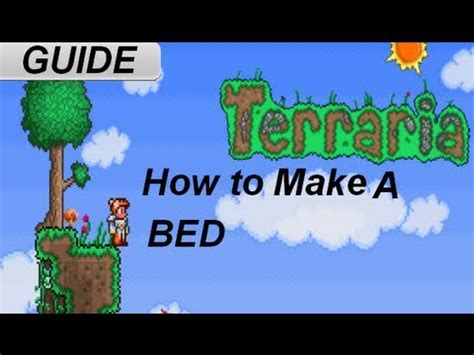 how to make a bed in terreria