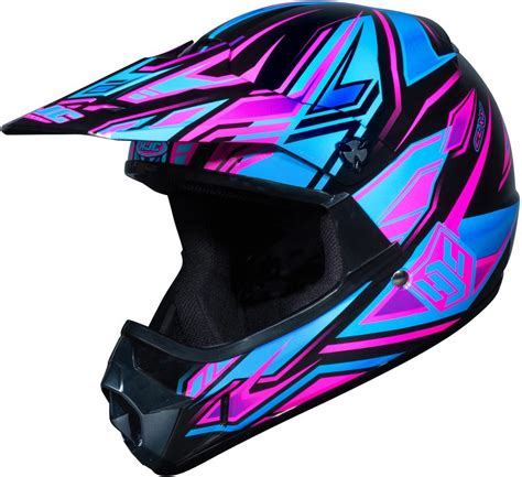 purple motocross 89 99 hjc girls cl xy fulcrum helmet 2013 195912