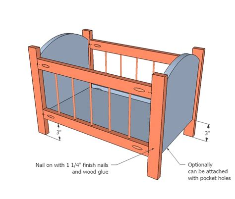 Crib Drawings by White Fancy Baby Doll Crib Diy Projects