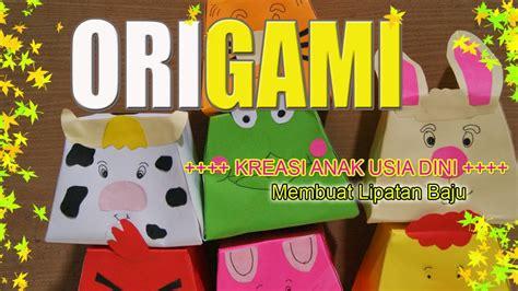 youtube membuat origami baju kreasi anak anak cara membuat origami lipatan baju