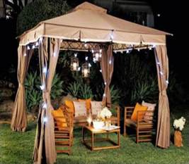 Outdoor Living Gazebo Living Home Outdoors 10x12 Gazebo With Solar Lights