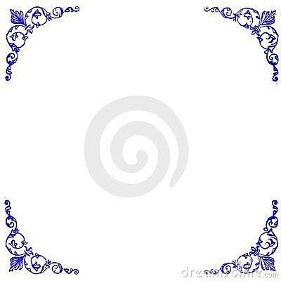 cornici per powerpoint decorative blue corners background royalty free stock