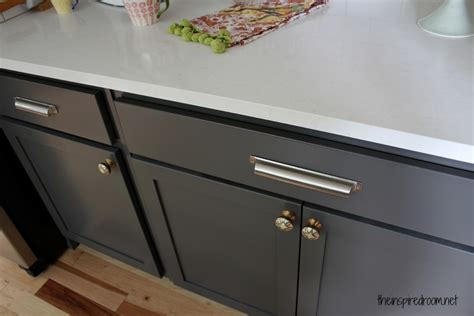 best kitchen cabinet handles kitchen cabinet colors before after the inspired room