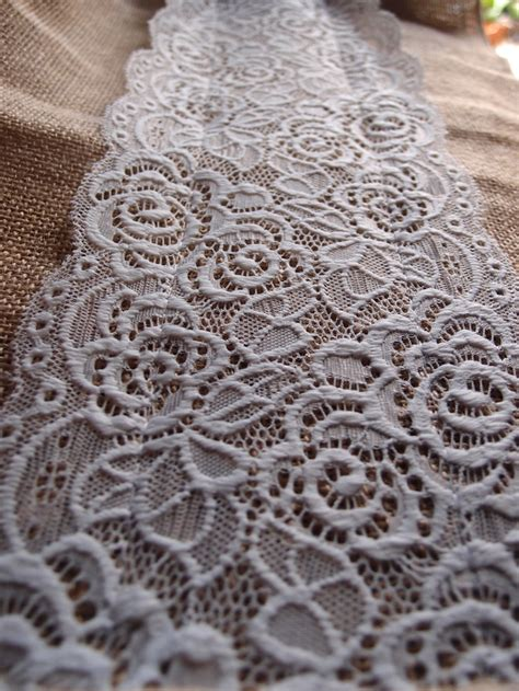 burlap table runners with lace for sale vintage burlap and lace style no 1 wedding table runner