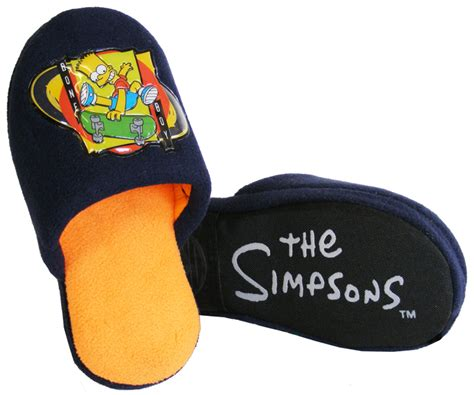 boys simpsons slippers new boys bart novelty slippers the simpsons