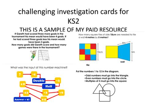 year 6 maths challenge cards maths challenges ks2 by erylands teaching resources tes