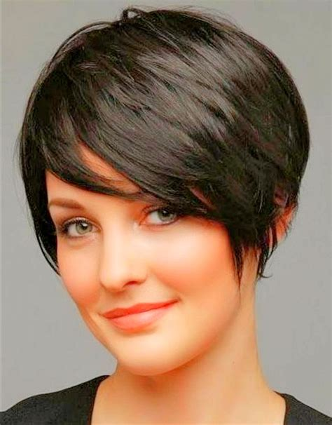short hair styles cut round the ear long pixie haircut for round faces www pixshark com