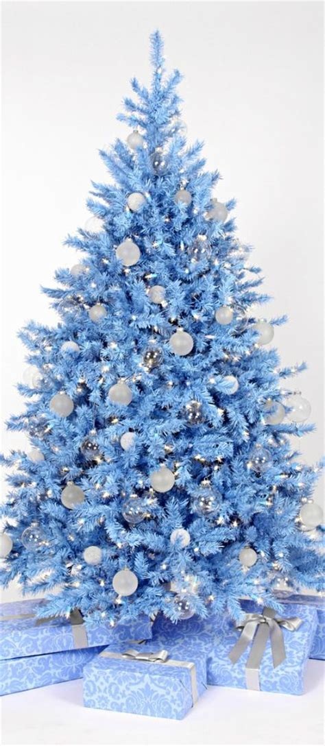 christmas tree pastel blue christmas trees pinterest