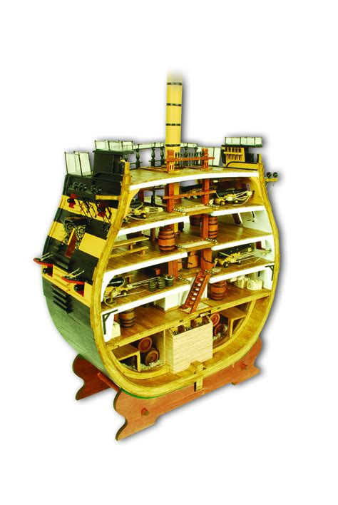 hms victory cross section 1 72 model kit modelspace