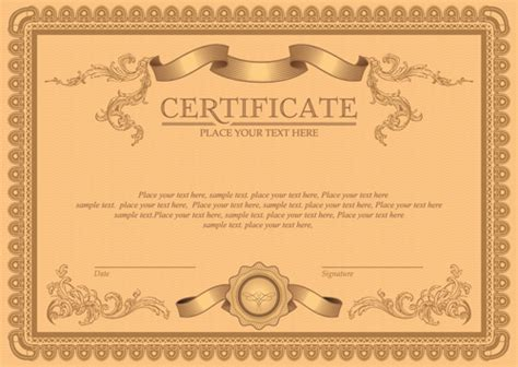certificate design hd images classical styles certificate template vectors 03 vector
