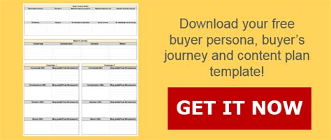 Buyer Persona Buyer S Journey And Content Plan Template Buyer Journey Template