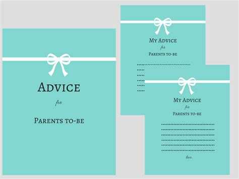 To Be Advice Cards Template by Baby Advice Printable Templates Images