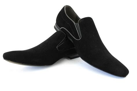 new mens dress shoes black suede slip on bravo berto