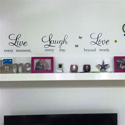 live laugh wall stickers live laugh quotes wall decals zooyoo1002 home