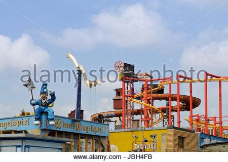 themes vienna ltd rollercoaster in prater amusement park section of the