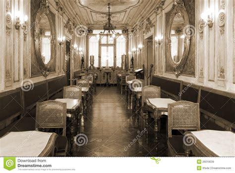 retro interior design cafe vintage cafe interior with wooden furniture stock image